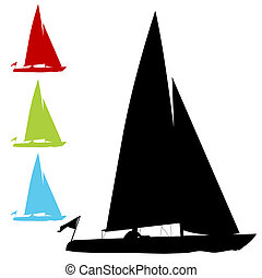 Barca vela,  set