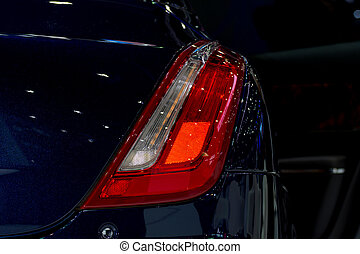 Car taillight or taillamp is a some of car parts in car or...