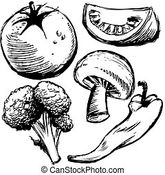 Healthy Foods - An image of a group of healthy food items.