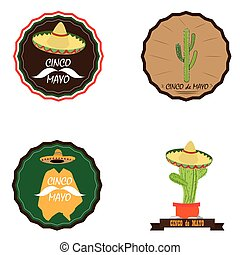 Cinco de mayo - Set of cinco de mayo graphic illustrations,...