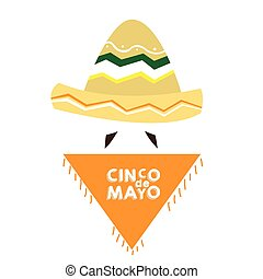 Cinco de mayo - Isolated mexican clothes with text and a...
