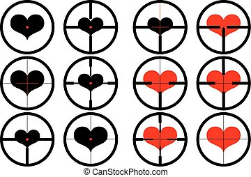 heart , targeted at heart, reticule, viewfinder, target...