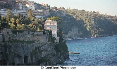 view of the city near the sea Italy