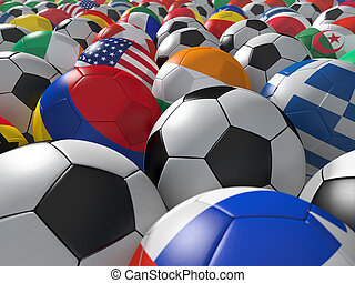 Soccer balls BG. - Soccer balls with flags of national teams