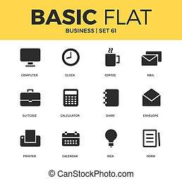 Basic set of Business icons