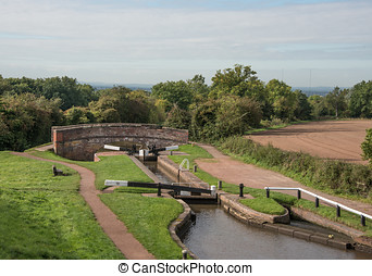 Lock Gates and Bridge - Tardebigge Locks or the Tardebigge...
