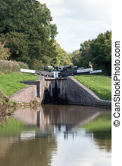 Two Canal Locks - Two of the  Tardebigge Canal Locks.