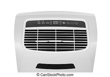 Portable air conditioner or dehumidifier isolated on white...