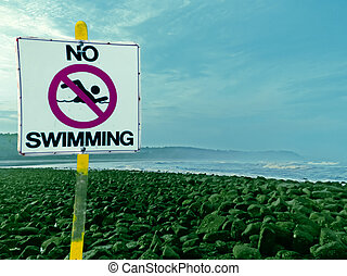 No swimming Board