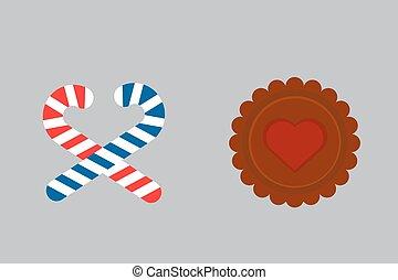 Lollipop sweet cookie dessert illustration. - Lollipop sweet...