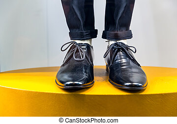 Mannequin legs in shoes and trousers - Mannequin legs in...