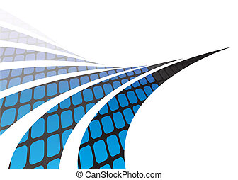 Abstract Swooshes - Abstract swoosh lines illustration with...