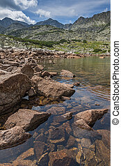 Big stones on Musalenski lakes, Rila mountain, Bulgaria