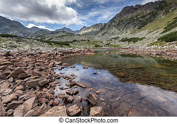 Landscape with Green hills and Musalenski lakes, Rila...