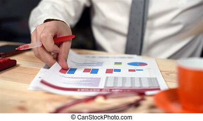 Accountant Monitoring Budget - Businessman Monitoring Stock...