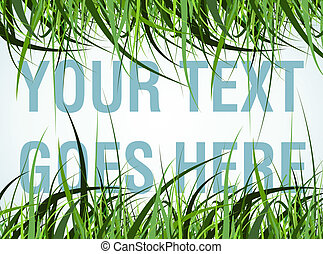 grass frame - room for your text in the grass frame