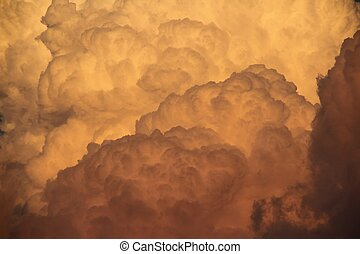 Deatil of Cumulonimbus Clouds - A detail of cumulonimbus...