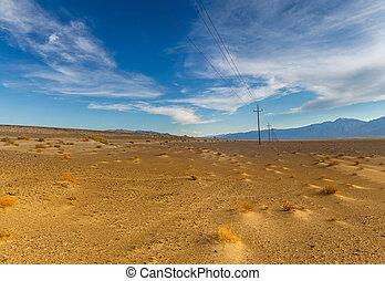 Panoramic view on Death Valley National Park, California,...