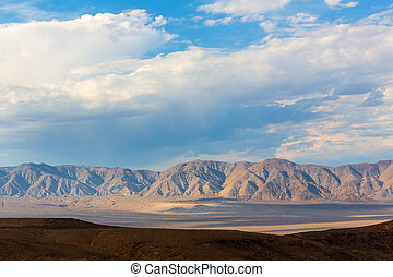 Mountains of Death Valley at cloudy day, National Park,...