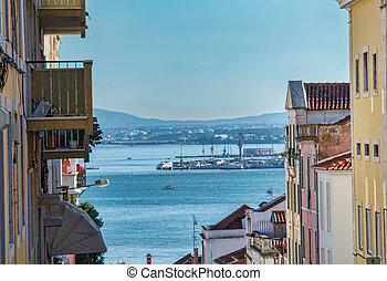 View of tejo river in lisbon - Lisboa Portugal. 15 January...