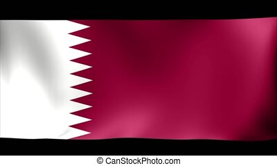 Qatar Flag. Background Seamless Looping Animation. 4K High...