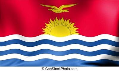 Kiribati Flag. Background Seamless Looping Animation. 4K...