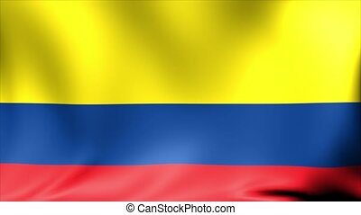 Colombia Flag. Background Seamless Looping Animation.