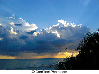 Evening at Maderia Beach - Evening storm at Madiera Beach,...