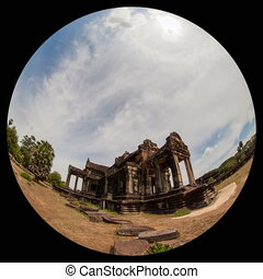 Angkor what timelapse using fisheye lens - angkor wat...