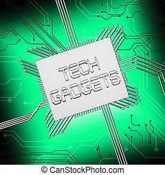 Tech Gadgets Shows Technology Gizmos 3d Illustration - Tech...