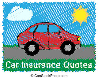 Car Insurance Quotes Means Car Policy 3d Illustration - Car...
