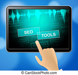 motore, rappresenta, ricerca, illustrazione,  optimization,  seo, attrezzi,  3D