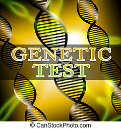 Genetic Test Shows Dna Research 3d Illustration