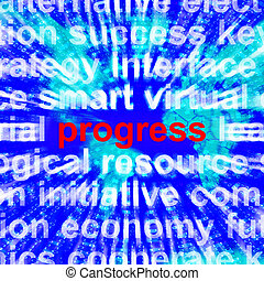 Progress Word Meaning Growth Profit 3d Rendering