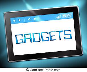 Gadgets Tablet Shows Gizmos Online 3d Illustration - Gadgets...