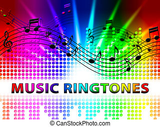 Music Ringtones Means Telephone Melody Ring Tone - Music...