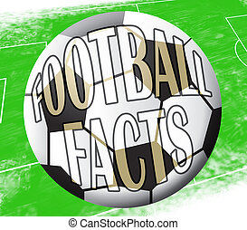Football Facts Shows Soccer Knowledge 3d Illustration -...