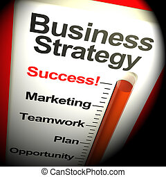 Business Strategy Success Showing Vision 3d Rendering