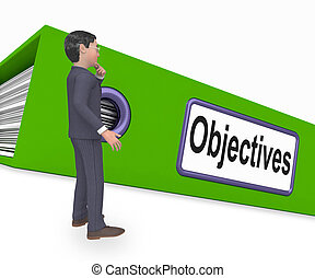 Objectives Folder Means Correspondence Business 3d Rendering