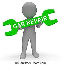Car Repair Shows Auto Maintenance 3d Rendering - Car Repair...