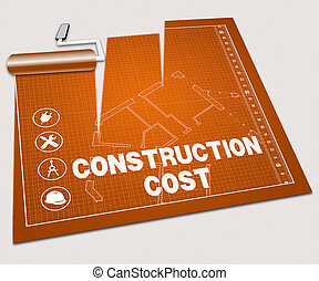 Construction Cost Shows Building Price 3d Illustration