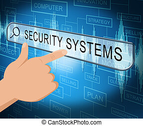 Security Systems Shows Internet Protection 3d Illustration