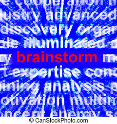 Brainstorming Word Meaning Creative Thinking 3d Rendering