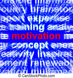 Motivation Word Showing Positive Encouragement 3d Rendering