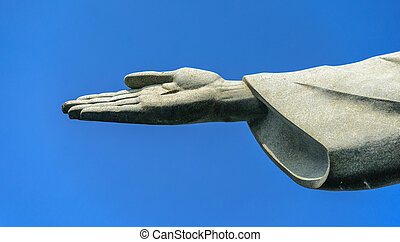 Detail of the right hand of Christ the Redeemer, Rio de...