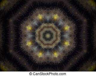 extruded octagon mandala - Mandala made of extruded small...