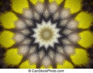extruded star mandala - Mandala made of extruded small...