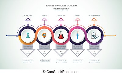 Vector infographic template  Business concept with options