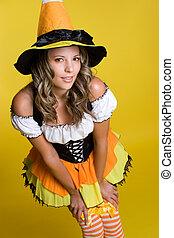 Pretty Halloween Witch - Pretty halloween costume witch...