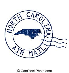 North Carolina post office, air mail stamp